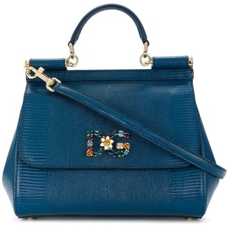 Dolce & Gabbana jewelled medium Sicily tote