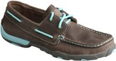 Twisted X Women's Leather Boat Shoe Driving Moccasins