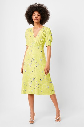 French Connection Ambar Drape Midi Tea Dress