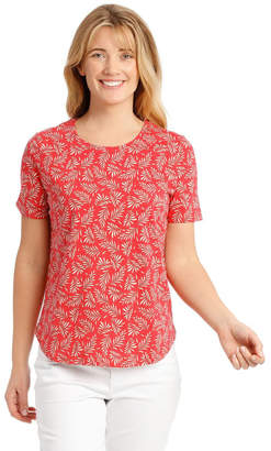 Regatta Short Sleeved Core T-Shirt - Coral Fern Print