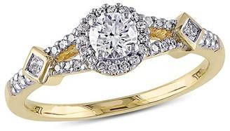 Rina Limor Fine Jewelry 14K 0.50 Ct. Tw. Diamond Crossover Engagement Ring