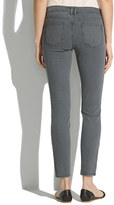 Madewell Skinny Skinny Zip Jeans in Grey Railroad