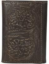 Ariat Floral Embossed Tri-Fold Wallet Wallet Handbags