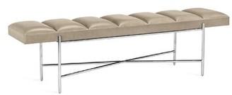 Interlude Zora Leather Bench