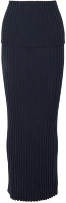 Gabriela Hearst Alamos Ribbed Wool Maxi Skirt