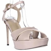 Stuart Weitzman Nexus Platform Ankle Strap Sandals, Beige Mirror.