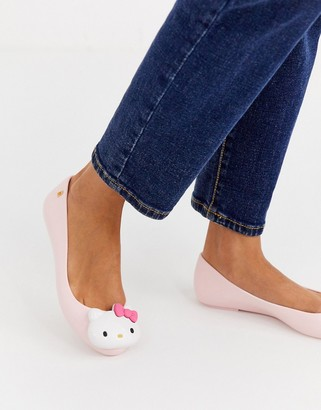 Hello Kitty logo ballet flats in pink