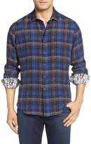 Robert Graham Concordia Plaid Silk Blend Sport Long Sleeve Classic Fit Shirt