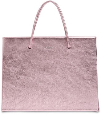 Medea Hanna Metallic Leather Top Handle Bag
