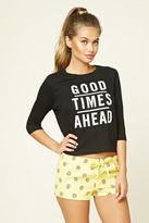 Forever 21 Good Times Graphic PJ Set