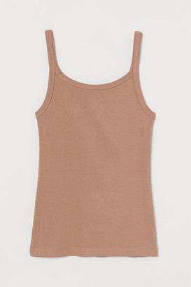 H&M Ribbed jersey strappy top