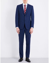 Canali Slim-fit Woven Check Wool Suit