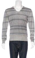 John Varvatos Cashmere Striped Sweater
