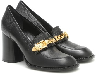 Gucci Sylvie chain-trimmed leather pumps