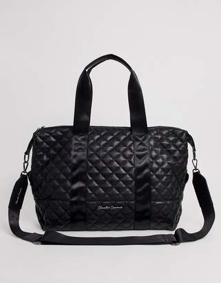 Claudia Canova black quilted holdall bag