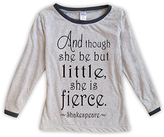 Urban Smalls Light Gray 'Though She Be But Little' Tee - Toddler & Girls
