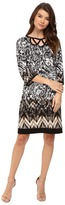 Christin Michaels Amy Long Sleeve Printed Dress