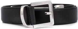 Just Cavalli Logo-Buckle Leather Belt