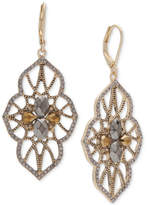 lonna & lilly Silver-Tone Stone & Pave Drop Earrings