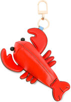Tory Burch lobster keyring - women - Leather/Brass - One Size