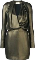 Saint Laurent plunge neck mini dress