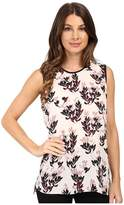 Vince Camuto Sleeveless Leaf Trio Blouse