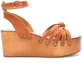 Etoile Isabel Marant Zia Leather Wedge Sandals