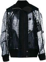 Sacai lace bomber jacket
