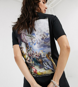 Reclaimed Vintage inspired t-shirt in black with back Veronese art print