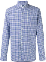 Barba long sleeve gingham shirt - men - Cotton - 40