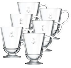La Rochere Napoleon Bee 9-ounce Coffee Cups, Set of 6
