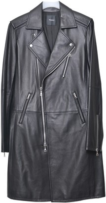 Theory Black Leather Coat for Women