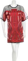 Gucci Metallic Motif Mini Dress