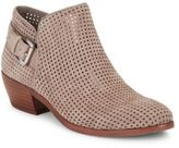 Sam Edelman Paula Perforated Suede Ankle Boots