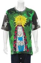 Dolce & Gabbana Printed Henley T-Shirt