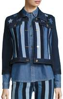 Tommy Hilfiger Women's Stars & Stripes Patchwork Cropped Jacket