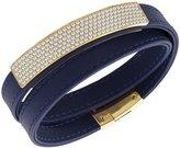 Swarovski 5120642 Vio Navy Leather Bracelet