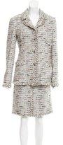 Chanel Metallic-Accented Silk-Blend Skirt Suit