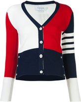 Thom Browne block colour V-neck cardigan