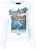 Philipp Plein long-sleeve printed sweatshirt