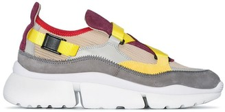 Chloé Multicoloured Sonnie colour block sneaker