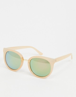 A. J. Morgan AJ Morgan round sunglasses in light pink