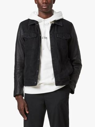 AllSaints Bennett Leather Jacket, Black