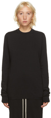Rick Owens Black Short Level Long Sleeve T-Shirt