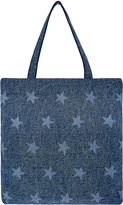 Accessorize Distressed Denim Star Shopper Bag