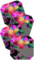 DENY Designs Biljana Kroll Floral Storm Coaster - Set of 4
