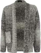 River Island Boys Grey ombre knit cardigan