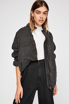 Free People Dolman Quilted Knit Jacket by Free People, Black, L