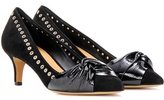 Isabel Marant Panely Embellished Suede And Leather Pumps
