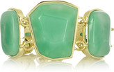 22-karat gold-plated stone bracelet